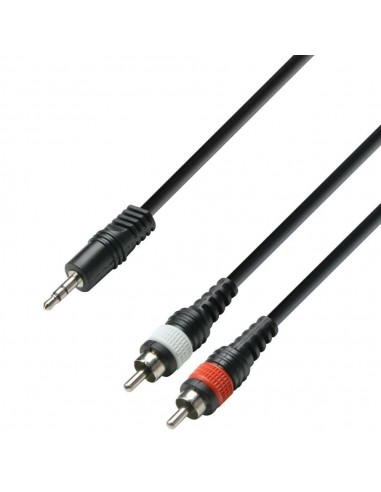 Kabel Jack 3,5-2x cinch 1m
