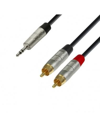 Kabel Jack 3,5 3-2x cinch 6m