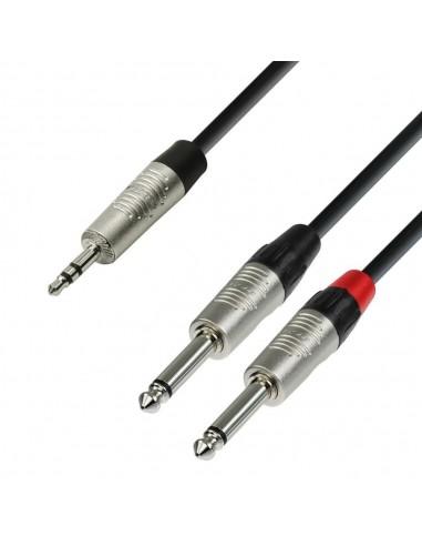 Kabel Jack 3,5 3-2xJack 2 1,5m