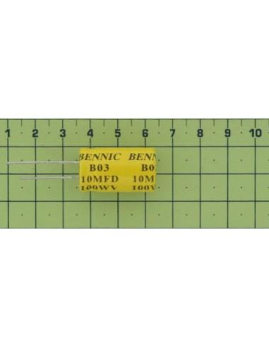 Kondenzátor el. bip. rad. 10M 100V