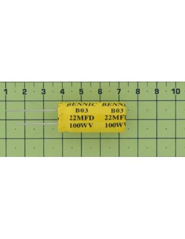 Kondenzátor el. bip. rad. 22M 100V