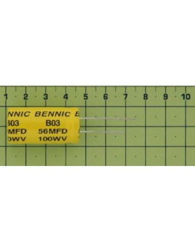 Kondenzátor el. bip. rad. 56M 100V