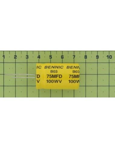 Kondenzátor el. bip. rad. 75M 100V