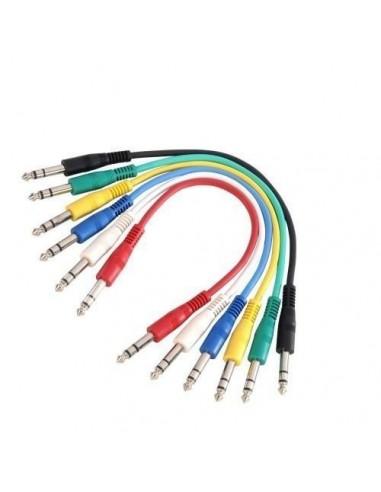Kabel 6ks 2x Jack 6,3 3 1,2m