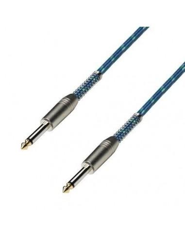 Kabel 2x Jack 6,3 2 3m retro