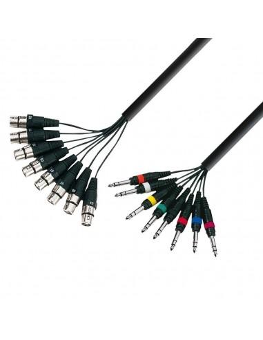 Kabel 8x XLR F-8x Jack 6,3 3 P