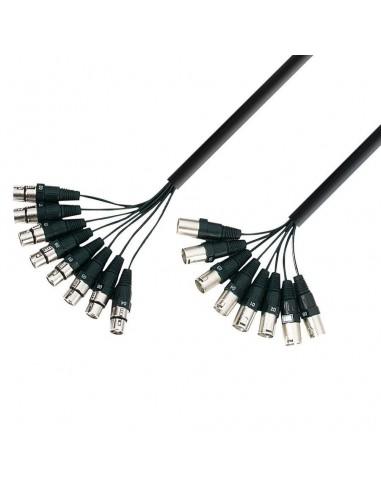 Kabel 8x XLR M-XLR F 3m