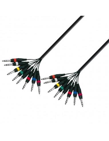 Kabel 4-8 Jack 6,3 3 na 2 5m